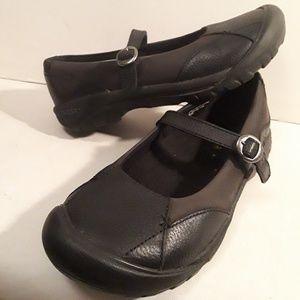 Keen Women's Maryjane Leather Black Shoes